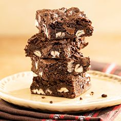 Turtle Brownies | MyRecipes.com....chocolate, caramel, pecans...what more could you want?