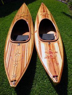 Bead and Cove Western Red Cedar Strip Kayaks