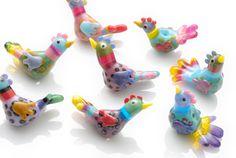 Beautiful little bird beads. I can make them, but not like Steph!