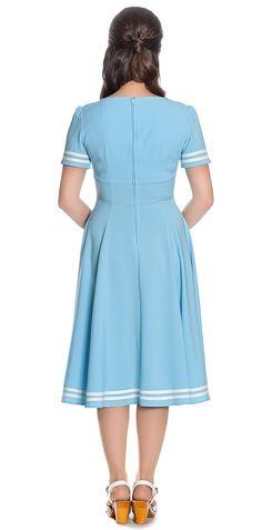 Hell Bunny Damen Kleid Ambleside Matrosen Kleid  Amazon.de  Bekleidung ea65aec0bf