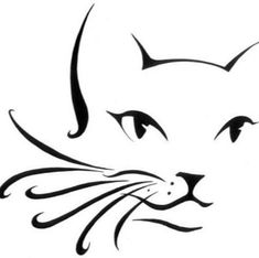 Katzen Tattoo Umriss Silhouetten Ideen - Rock Art - - Katzen - Katzen World Cat Outline, Tattoo Outline, Hp Tattoo, Tiny Tattoo, Tattoo Flash, Small Tattoos, Cat Drawing, Line Drawing, Drawing Faces