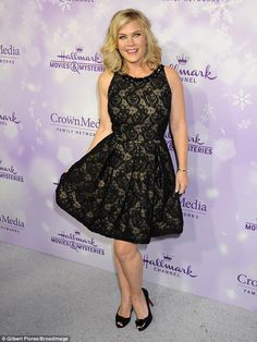 Sheer beauty! The Biggest Loser host Alison Sweeney looked lovely in lace at the Los Angel...