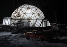 """Mike Monroe's dome house.  This shot is shown in several episodes, the first time from """"On Your Own"""" S4, E6."""