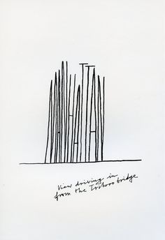 Alan Fletcher representing Manhattan through typography