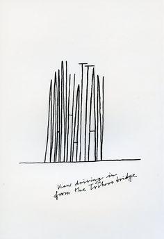 alan fletcher (1096 x 1600)  representing Manhattan through Typography - chloecornish.wordpress.com