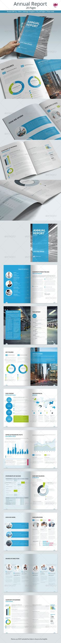 Annual Report 20 Pages  —  InDesign Template • Only available here! →…