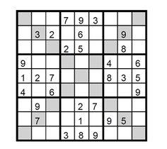 Sudoku X fácil Puzzle 1