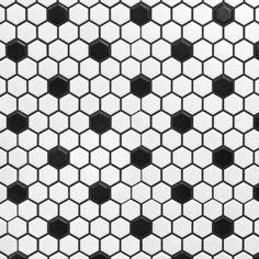 White and Black Hexagon II Porcelain Mosaic flooring Hexagon Tile Bathroom, Hexagon Tiles, Ceramic Wall Tiles, Bathroom Flooring, Basement Flooring, Flooring Ideas, Penny Flooring, White Flooring, Linoleum Flooring