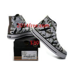 cc847224fd4b Converse Shoes Camo Gray Chuck Taylor All Star Gorillaz Classic High Top