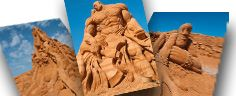 Sandskulptur.dk - Sandskulptur festival i Danmark - Neues Video von dem diesjährigen Festival