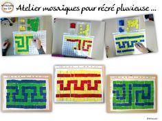 Atelier mosaïques romaines à l'école - roman mosaic game for kids