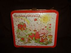 1980 Strawberry shortcake metal  lunch box (with no Thermos)