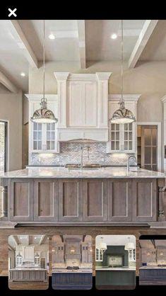 Kitchen Cabinet Colors, Kitchen Redo, Home Decor Kitchen, Rustic Kitchen, Interior Design Kitchen, New Kitchen, Home Kitchens, Redone Kitchen Cabinets, Kitchen Island Finishes