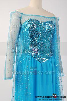 Frozen Elsa Dress | Frozen Snow Queen Elsa Fancy Dress Costume Cosplay ,Tailor Made in ...