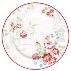 GreenGate Stoneware Plate Camille White D 20,5 cm