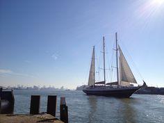 Dutch sailing vessel 'De Eendracht' at 'Waterweg'