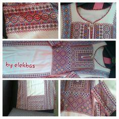 """شغلي.. تطريز الثوب الفلسطيني Embroidery.. my work """"elekbaa"""" Palestinian traditional thoub."""