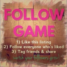 Everyone like follow share Like,follow,share keep this going like everyone that has liked this... MAKE SURE YOU FOLLOW EVERYONE THAT HAS LIKED THIS LISTING!!! lets keep this going!!! #followgame #moresales #letshavefun #sharethelove ❤️ tag your friends!!!  Accessories