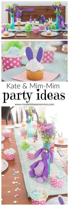 Twirl away to Mimiloo with this whimsical Kate & Mim-Mim Party. Bingo, bunny cupcakes, and toys are just a few things that make this birthday party great!