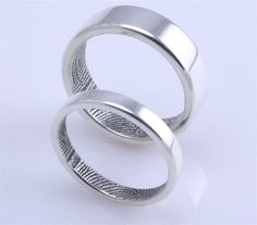 Fingerprint wedding rings!