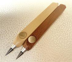 TEC-ART - Producto Wood - lápiz mecánico para minas de 5,5mm.  de madera de incienso y goma standard - en Vidrierahype!
