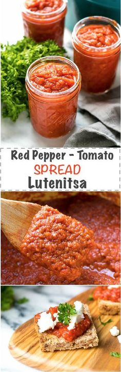 Red Pepper And Tomato Spread Lutenitsa Recipe - traditional Bulgarian treat, a type of chutney, made with roasted red peppers, tomatoes and carrots and eggplant at times. This tasty spread is popular on the Balkans - Bulgaria, Serbia and Macedonia (with slight variations and other names on a few other surrounding countries, but this is a completely different story). via @cookinglsl
