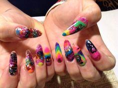 365 Days of Nail Art www.nailsmag.com Rainbow Nail Art, Make Up Art, Parlour, Creative Nails, Nails Magazine, Beauty Nails, Nail Ideas, Fingers, Nail Art Designs