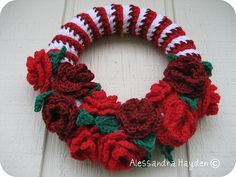 My Crochet Christmas Wreath http://attic24.typepad.com/weblog/2013/03/easter-wreath-ta-dah.html