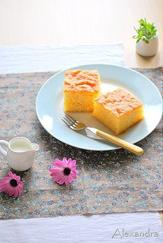 Revani :A Greek traditional cake with syrup