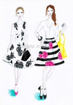 The Fashion Sisters by AdrianaJordao on Etsy