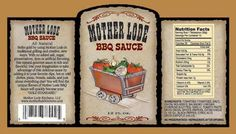 Barbecue Sauce Label