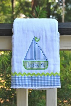 Silly Lilly Kids  Personalized Embroidered Burp by SillyLillyKids, $12.00