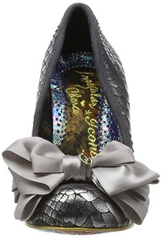 Amazon.com | Irregular Choice Women's Ascot Silver Court Shoe Heeled Pump | Shoes
