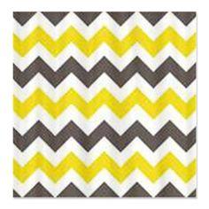 Yellow Chevron Shower Curtain | Gray and Yellow Chevron Shower Curtain