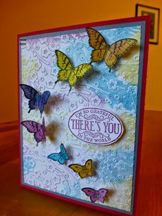 The Yellow Craft Room: Sponging Embossing Folders