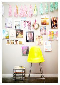 Glam Gallery Wall, christa and ivy wedding photog studio tour, via @100 Layer Cake