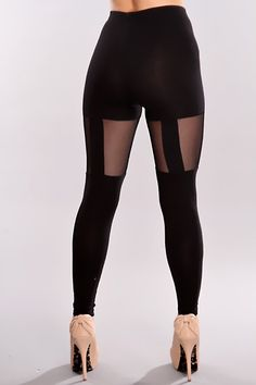 eef5cd7c37021 Black Sheer Star Studs Leggings Pants / Sexy Clubwear | Party Dresses | Sexy  Shoes | Womens Shoes and Clothing