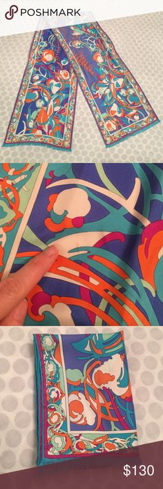 Emilio Pucci Scarf Wonderful condition.  One small stain - please see picture #2. Vibrant colors you've come to know and love from Pucci. Like no other. Emilio Pucci Accessories Scarves & Wraps