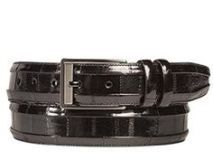 Mezlan Mens Eel-Skin Belt , Black, 34 Medium  http://www.shopluxuriously.com #eelskin #Mezlan #mens #Belt #Belts #Premium #Luxury
