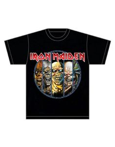 Iron Maiden Eddie Evolution Mens T-Shirt