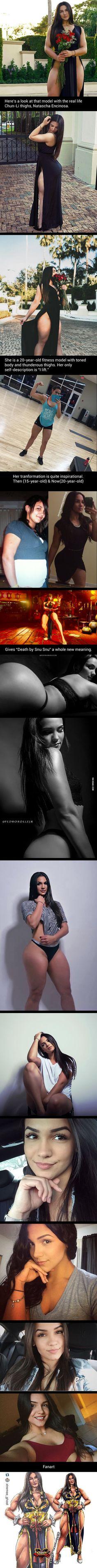 Meet Natascha Encinosa, The Girl With Real Life Chun-Li Thighs