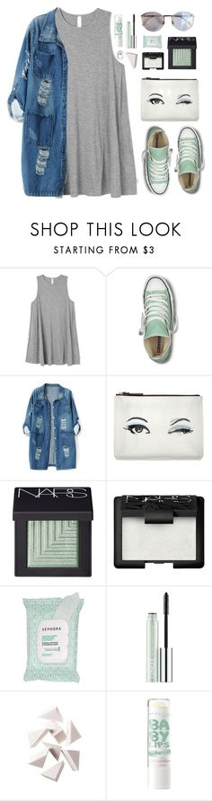 """""""Hint of Mint"""" by amazing-abby ❤ liked on Polyvore featuring RVCA, Converse, Chicnova Fashion, Kate Spade, NARS Cosmetics, Sephora Collection, Clinique and Bobbi Brown Cosmetics"""