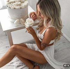 Bali Body Natural Skincare and Tanning Range Australia Kirsty Fleming, Blond, Cute Bikinis, Poses, Dress To Impress, Bikini Tops, White Dress, Wedding Dresses, My Style