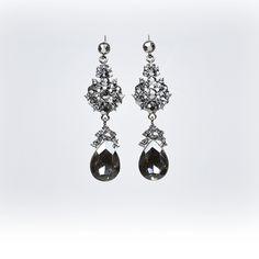 Black crystal eardrop