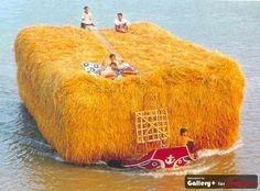 Straw on a boat!