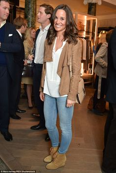 Understated: Pippa Middleton opted for a more casual approach to fashion when she stepped ...