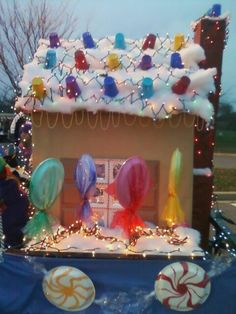 Gingerbread house float