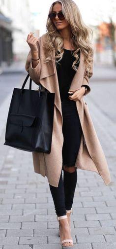 Fall Fashion... Beige & Black