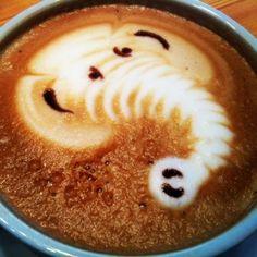 Elephant coffee latte art
