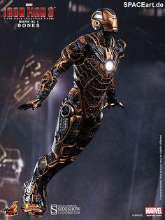 Iron Man 3: Iron Man Mark XLI Bones, Deluxe-Figur (voll beweglich) ... https://spaceart.de/produkte/irm011.php